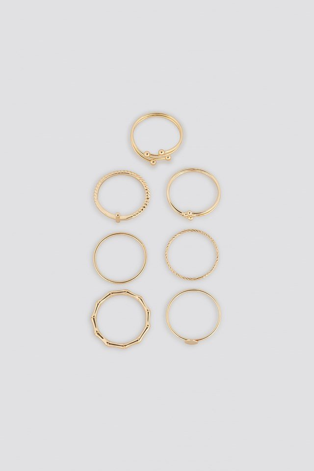 Fine Stacking Rings (7-Pack) NA-KD Accessories