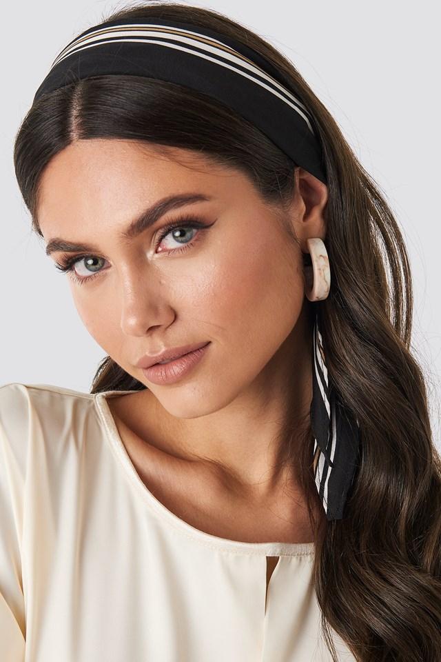 Fine Striped Hair Scarf NA-KD Accessories
