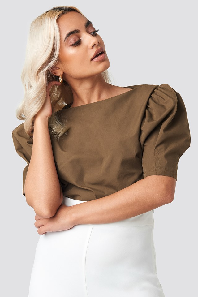 Fitted Puff Sleeve Top NA-KD Trend