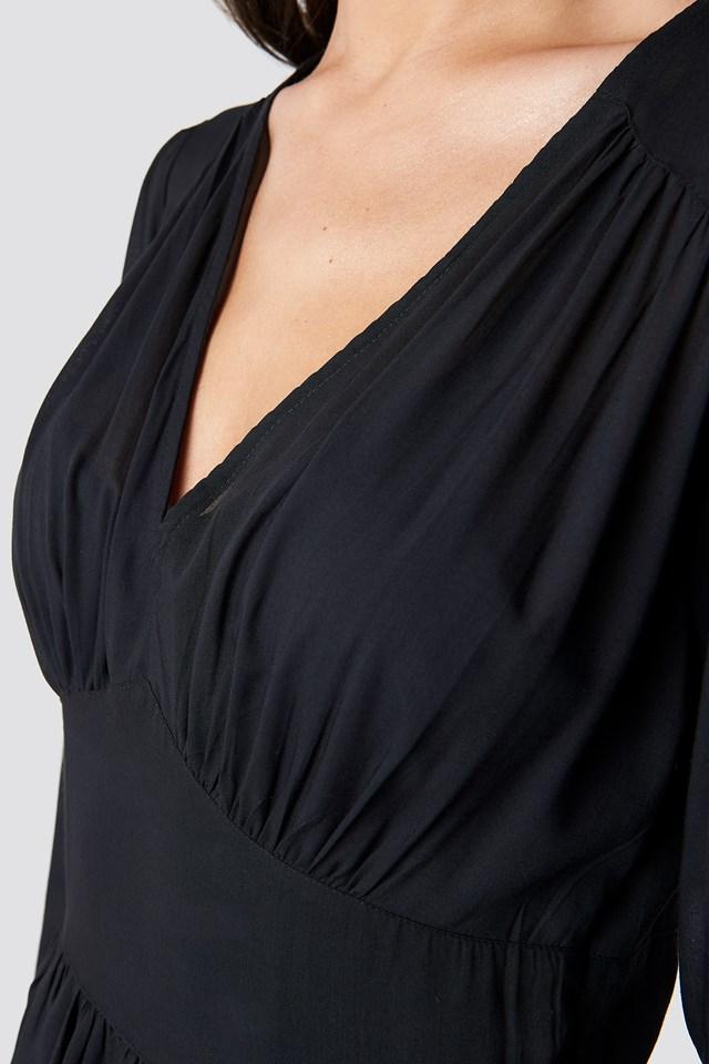 Fitted Waist Frill Detail Dress NA-KD.COM