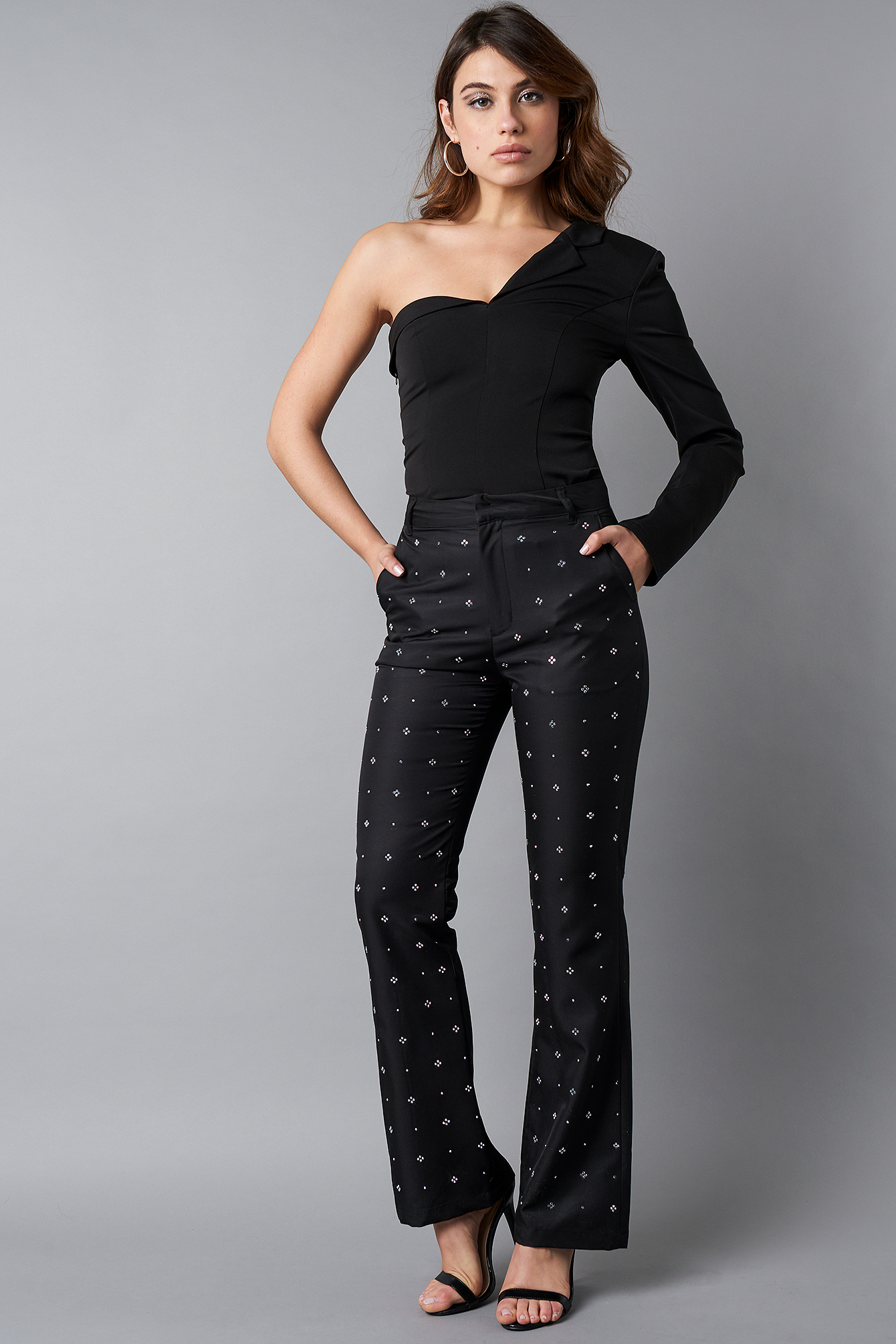 Flared Embellished Suit Pants NA-KD.COM