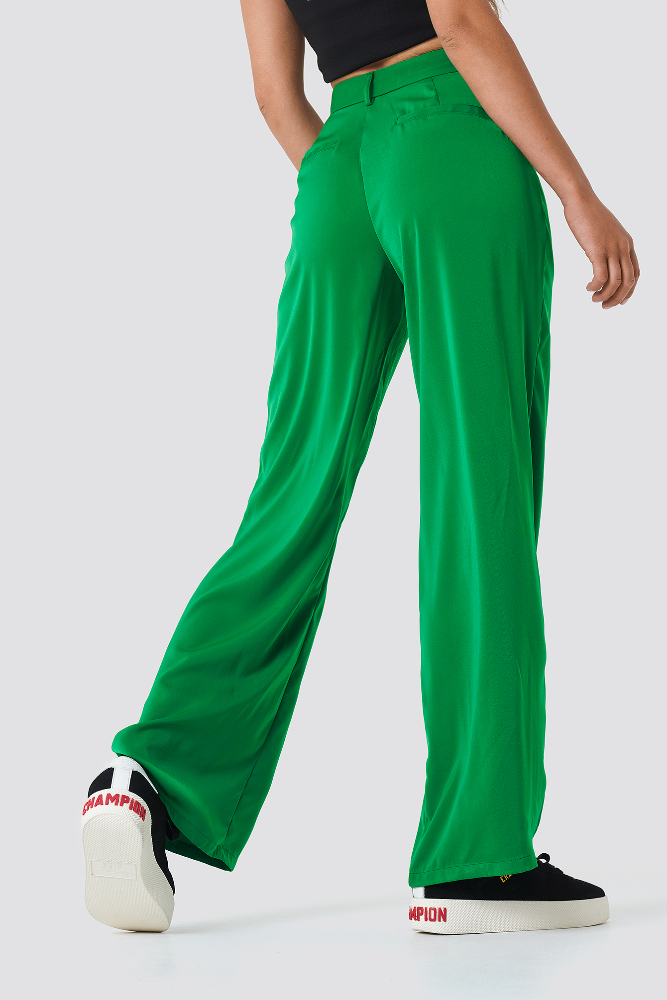 Flared Shiny Suit Pants NA-KD.COM