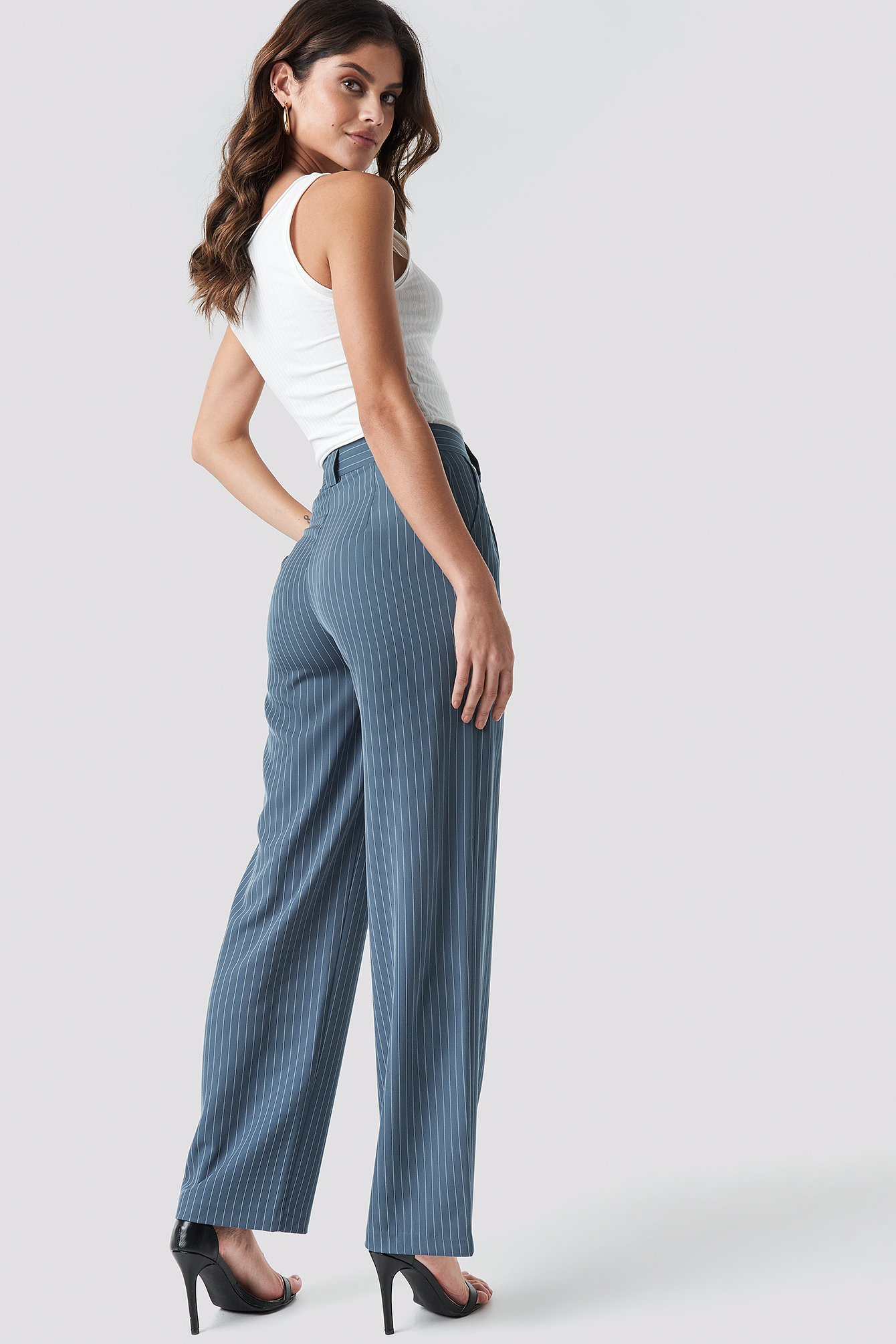 Flared Striped Pants NA-KD.COM