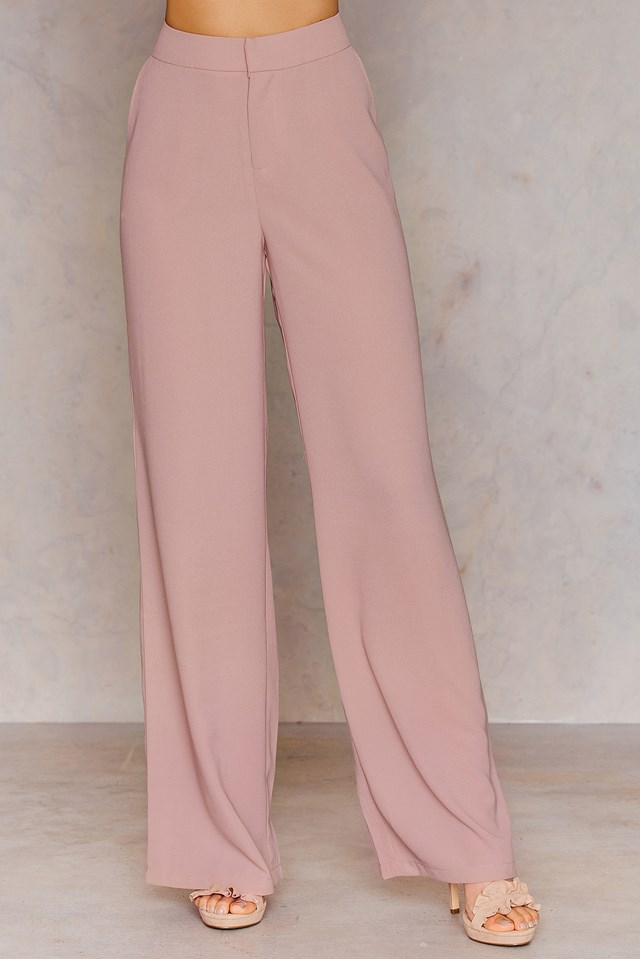 Flared Suiting Pants Light Mauve
