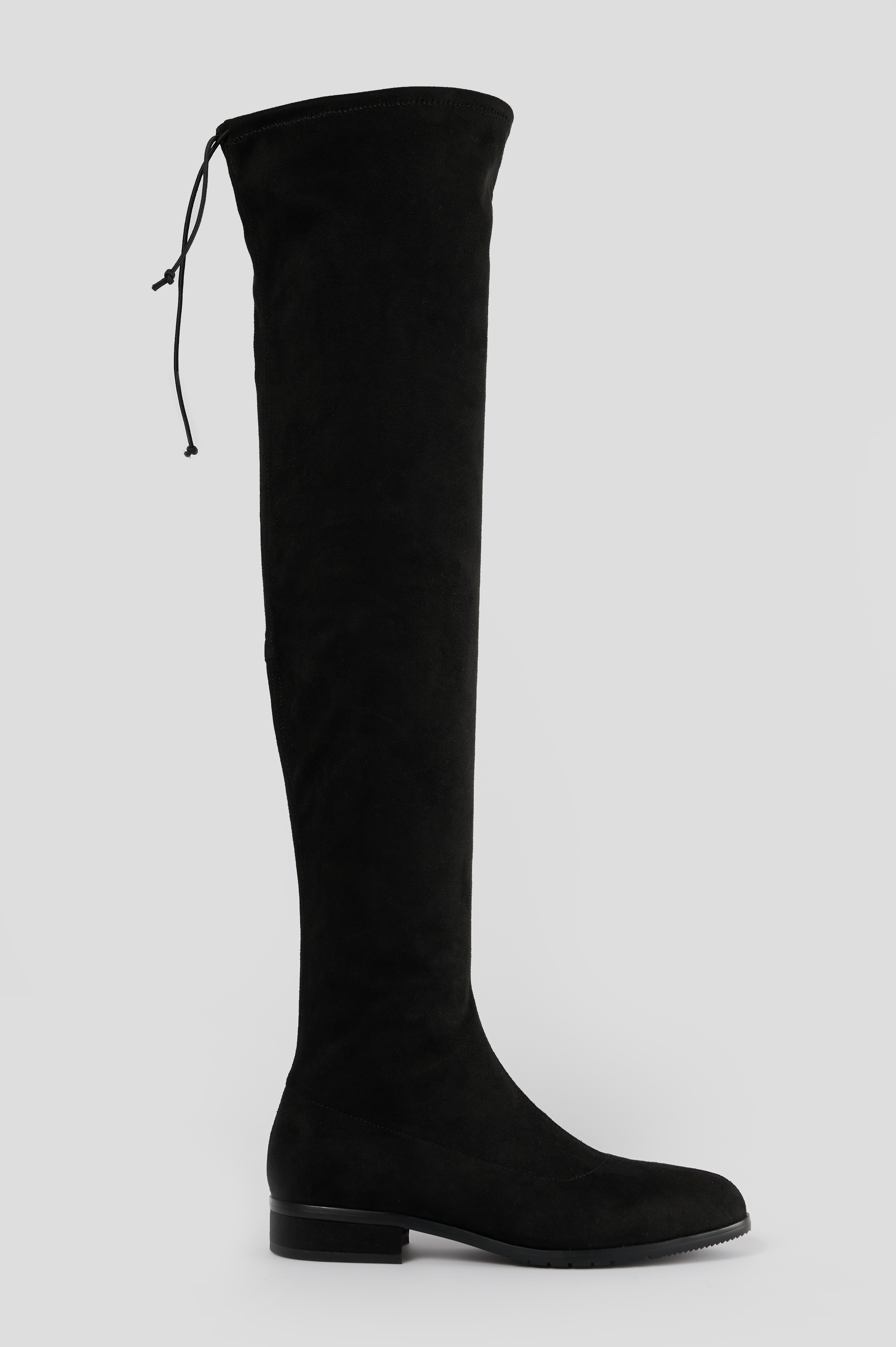 na-kd shoes -  Flat Overknee Boots - Black