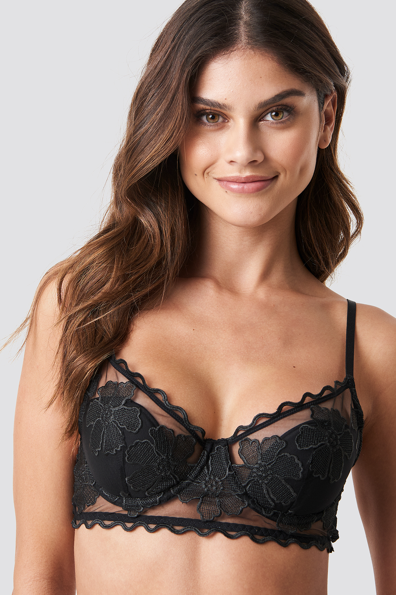 Floral Embroidery Cup Bra NA-KD.COM