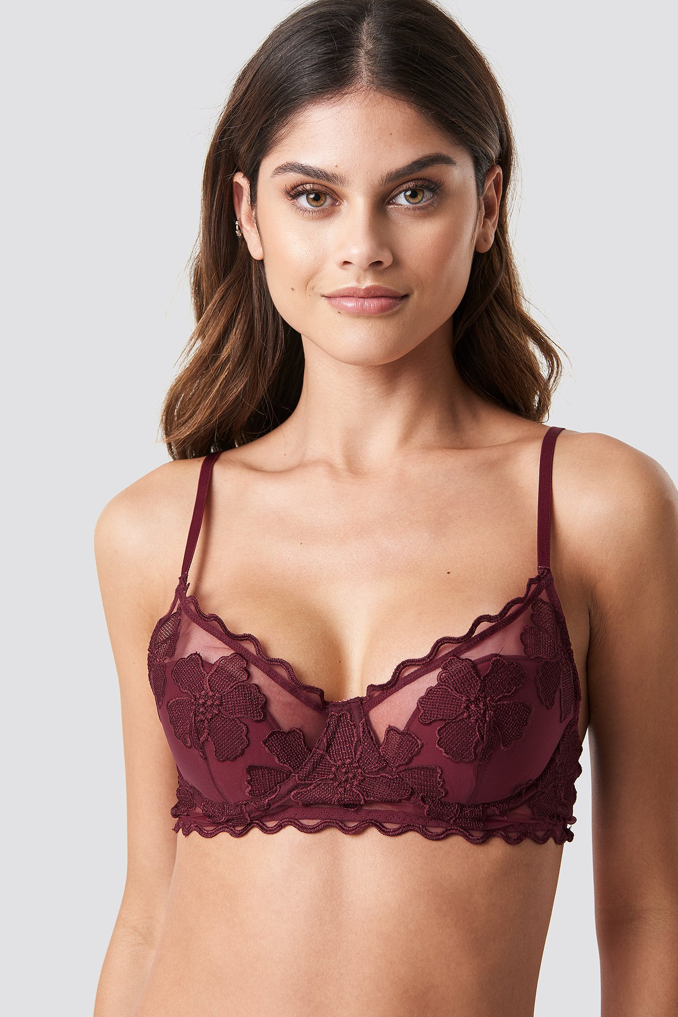 Embroidery Cup Bra
