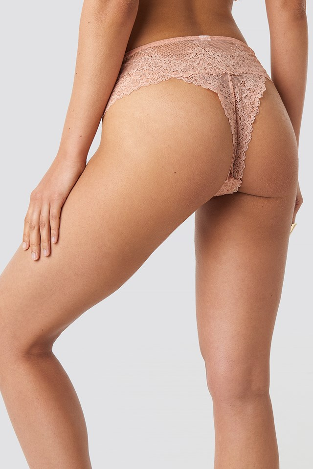 Floral Lace Panty Smoke Rose