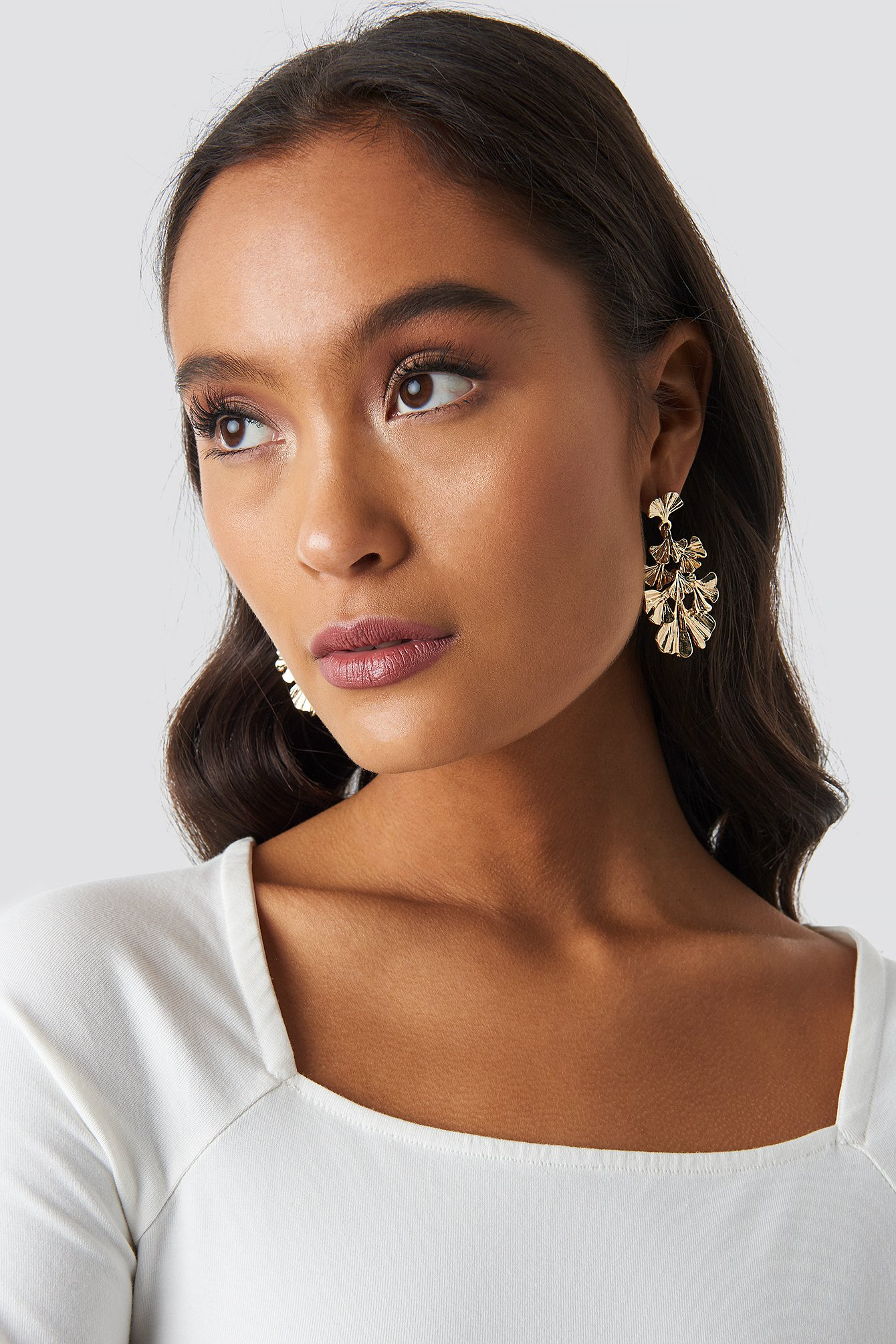 na-kd accessories -  Floral Layered Earrings - Gold