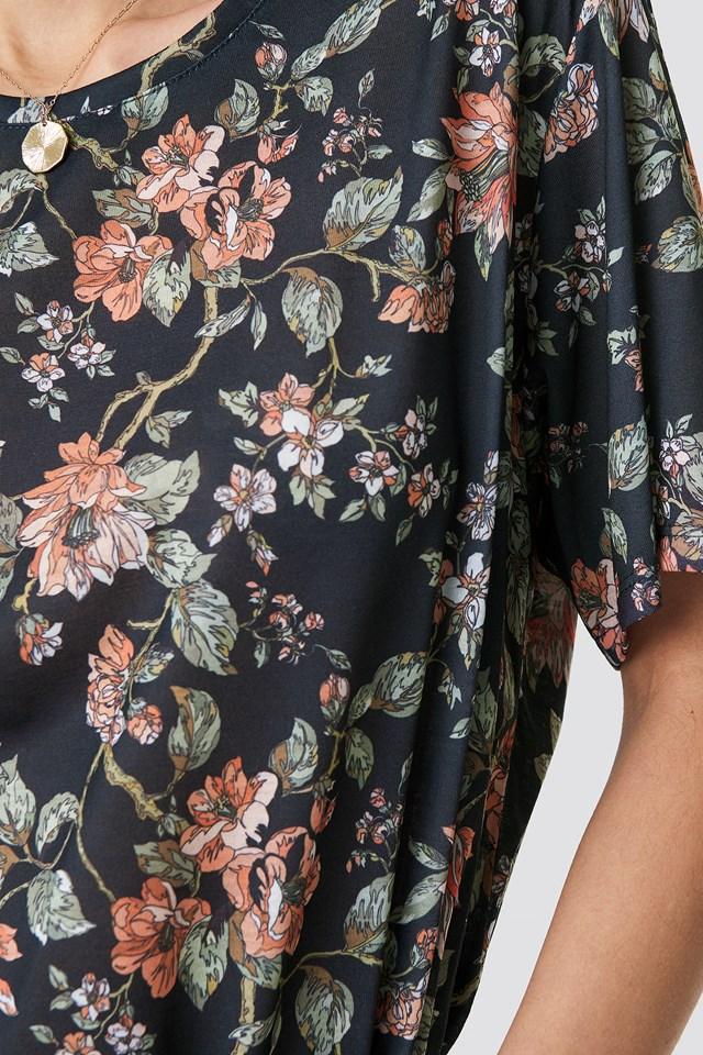 Floral Oversized Tee NA-KD.COM