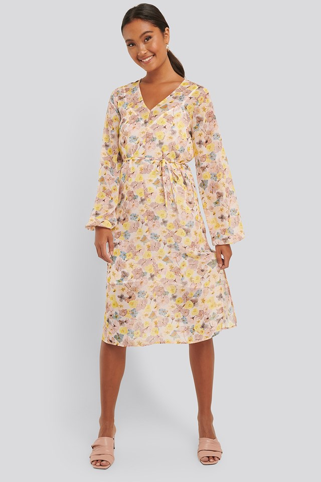 Floral Printed Chiffon Dress Floral Print
