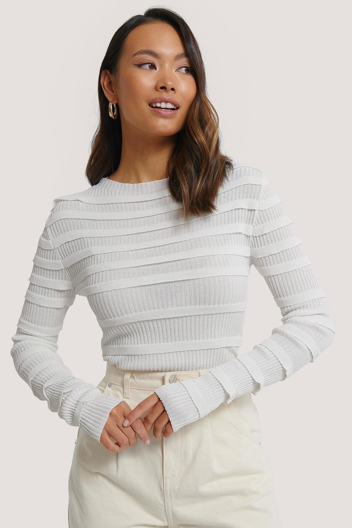 na-kd trend -  Pullover - White