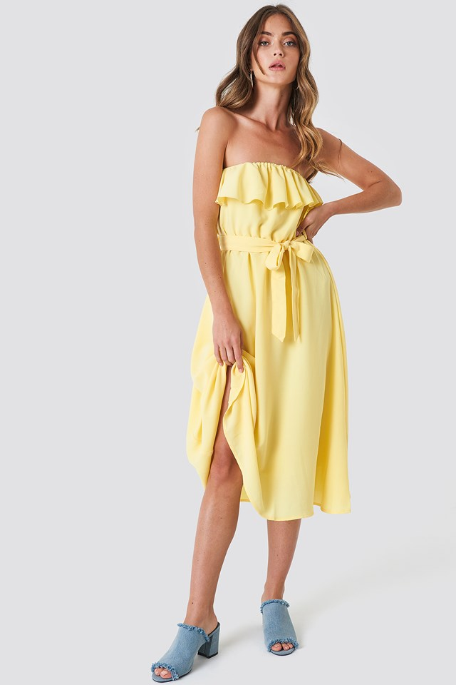 Flounce Midi Dress NA-KD.COM