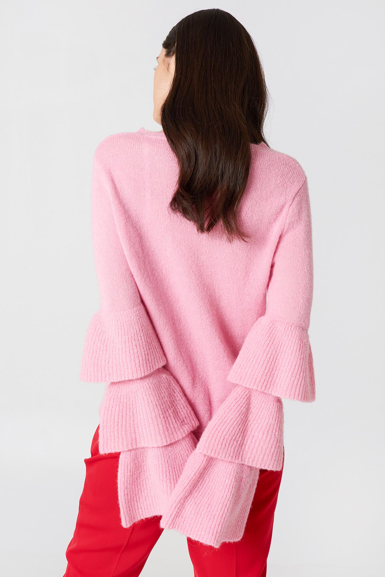 Flounce Sleeve Knitted Sweater NA-KD.COM