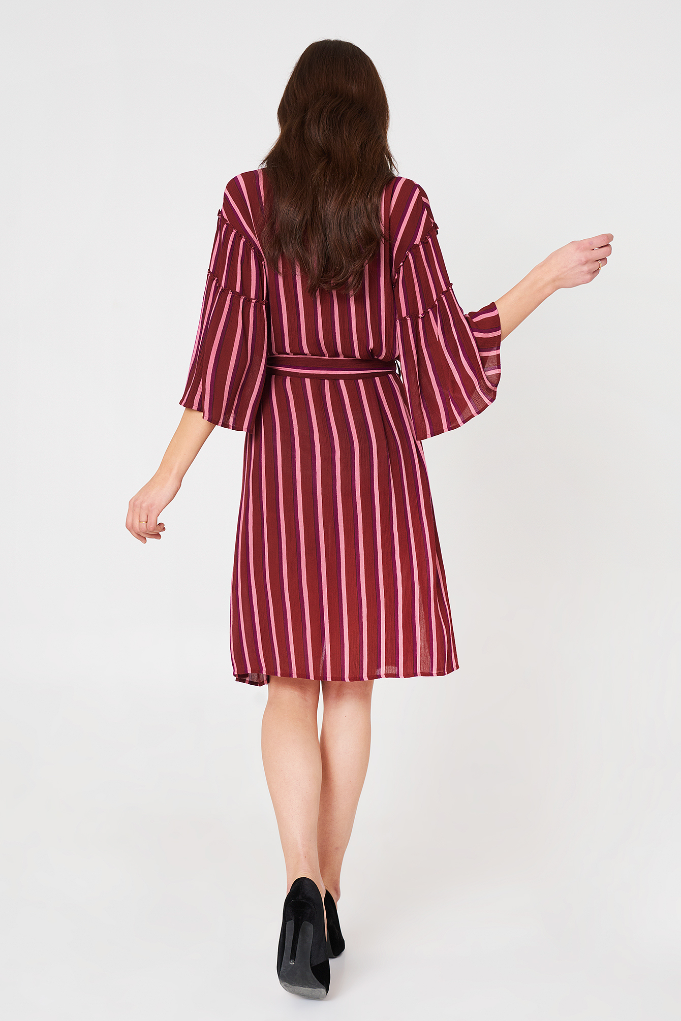 Flounce Sleeve Shirt Dress NA-KD.COM