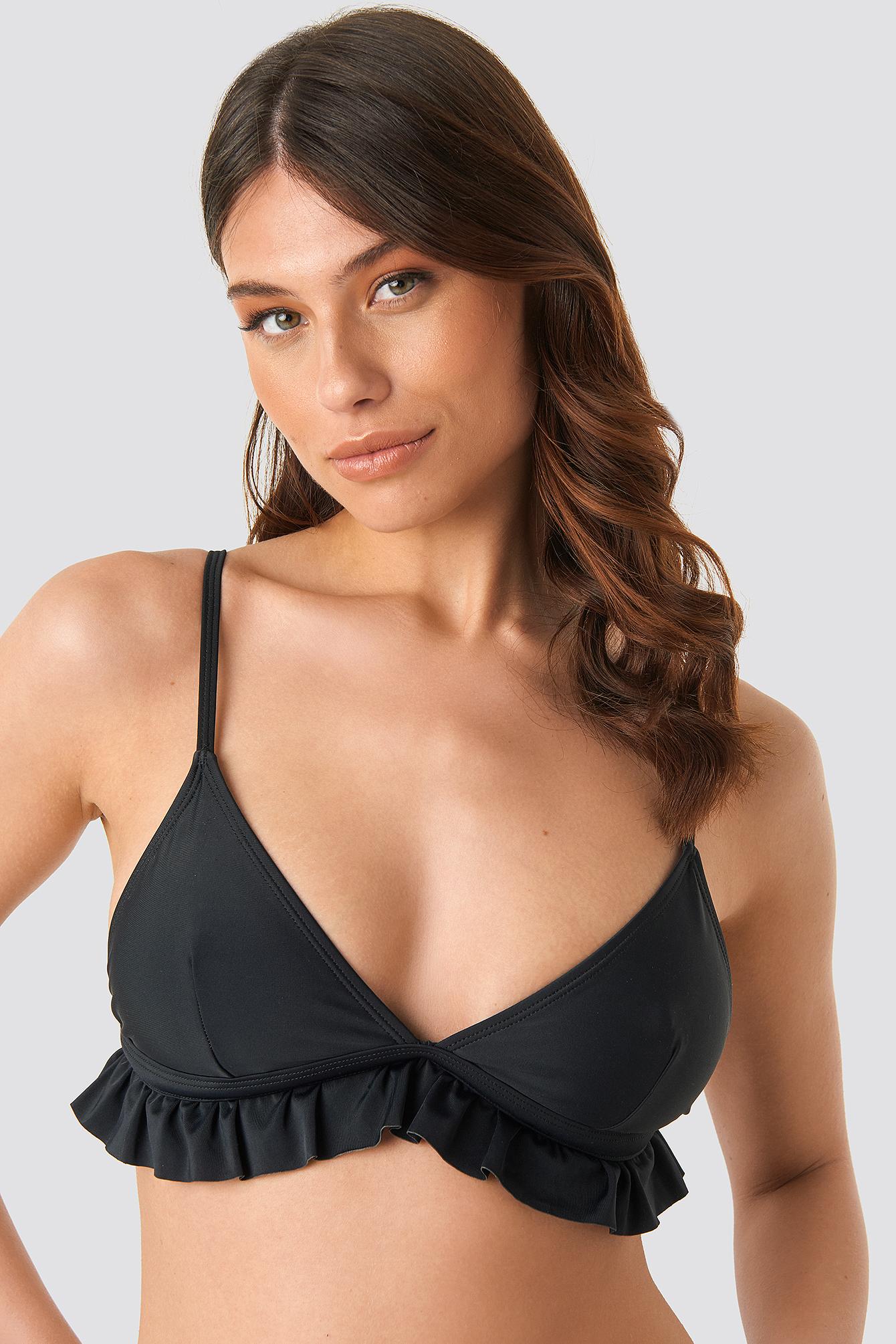 Flounce Triangle Bikini Top NA-KD.COM