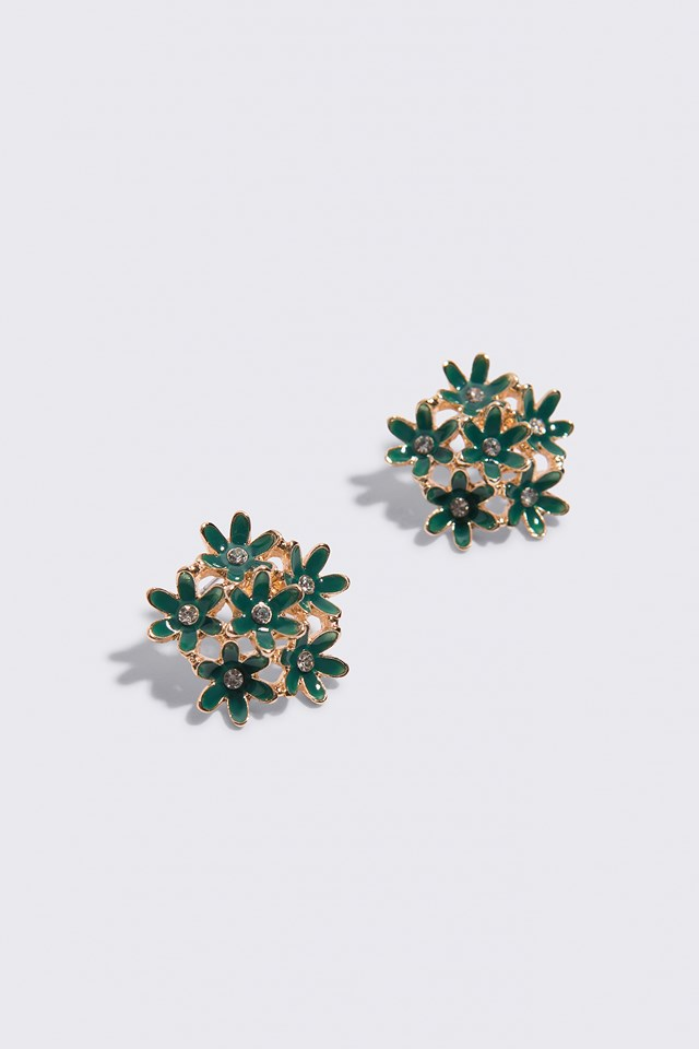 Flower Cluster Stud Earrings NA-KD.COM