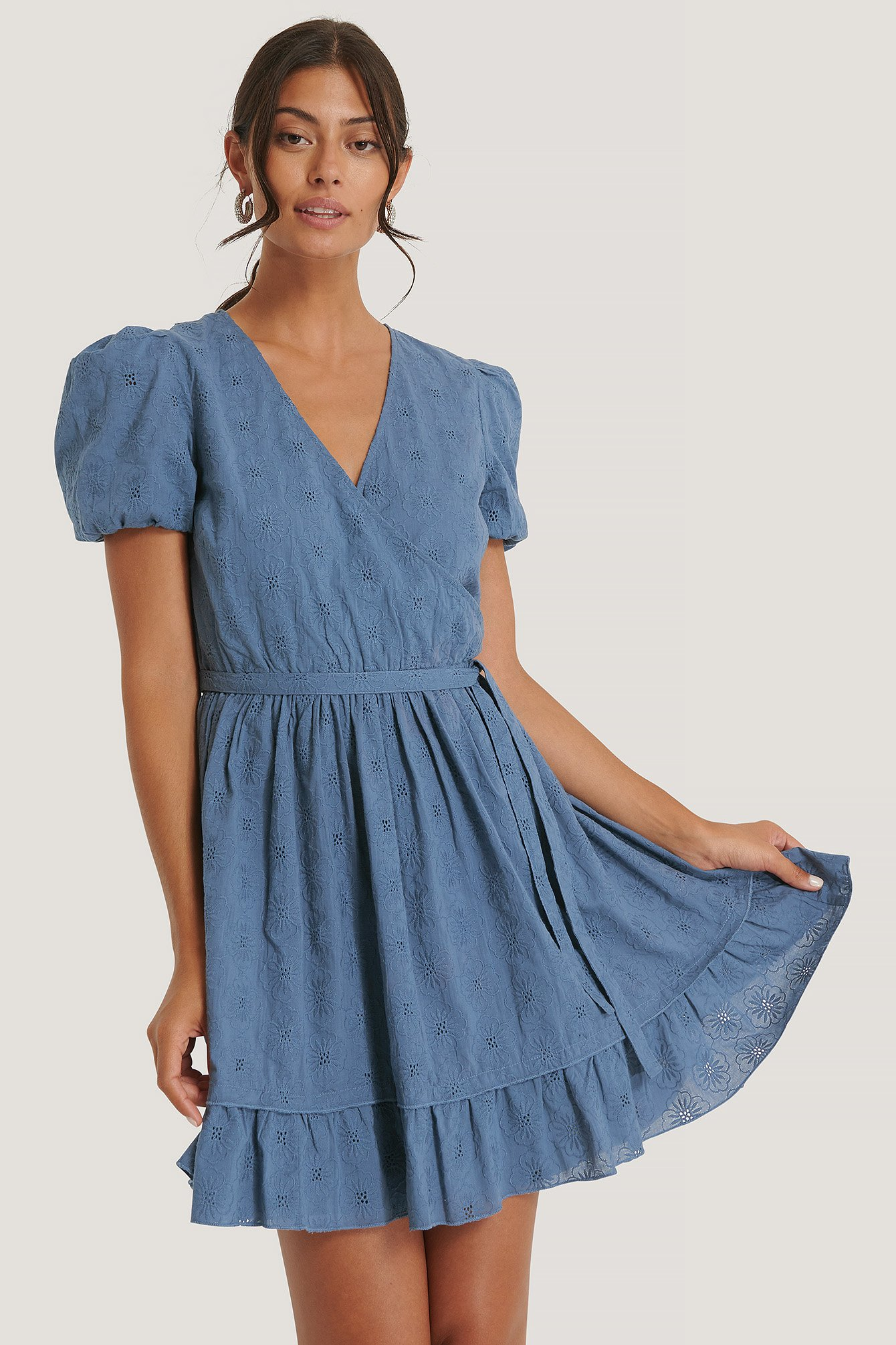 na-kd boho -  Kleid Mit Stickerei - Blue
