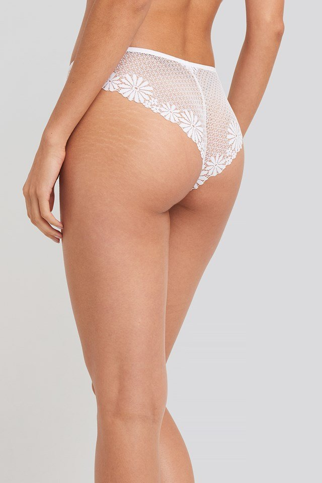 Flower Lace Cheeky Panty White