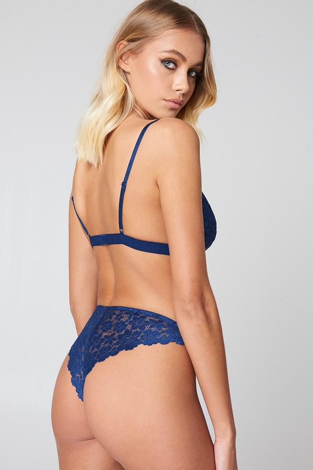 Flower Lace Pantie Dark Blue