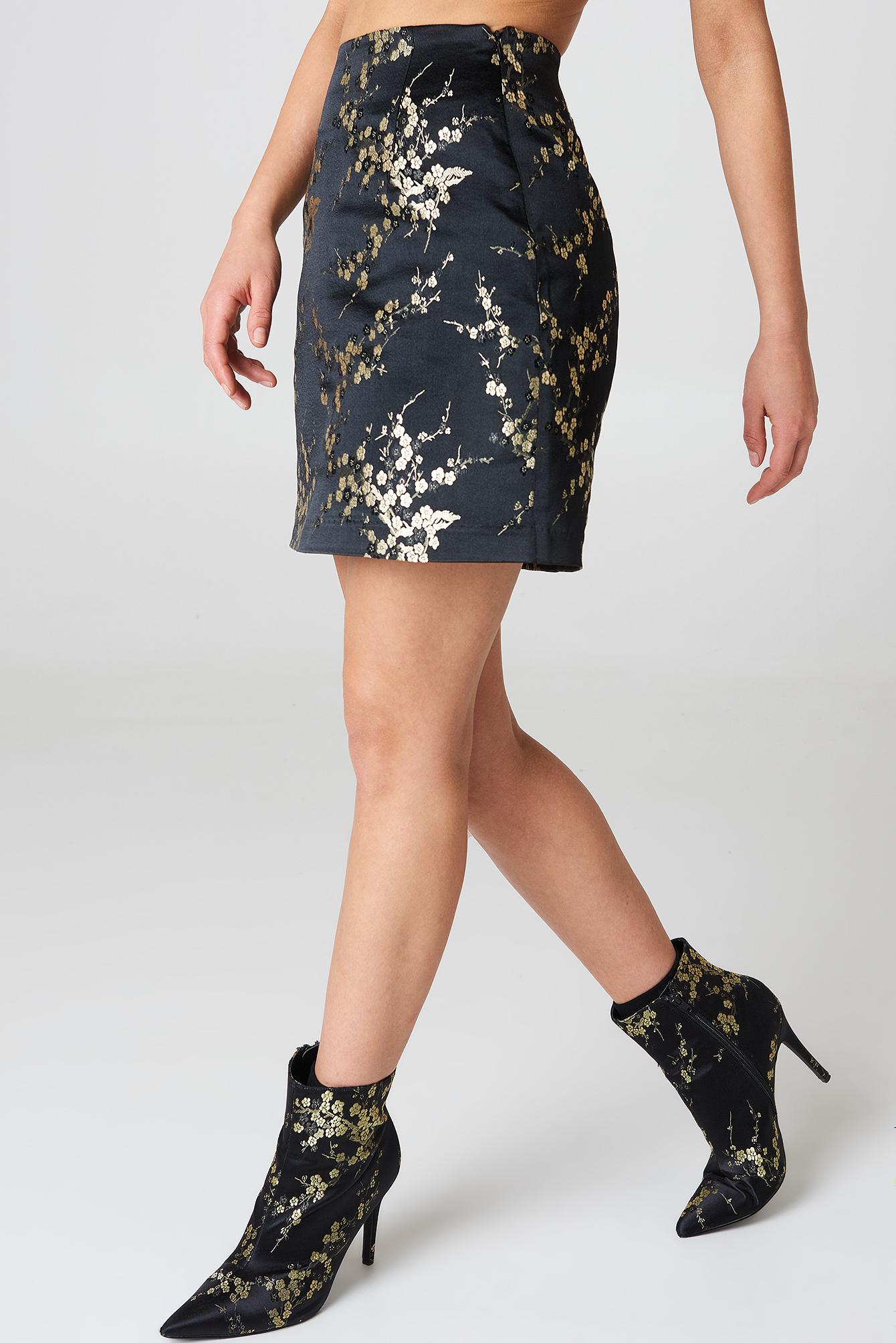 Flower Patterned Mini Skirt NA-KD.COM