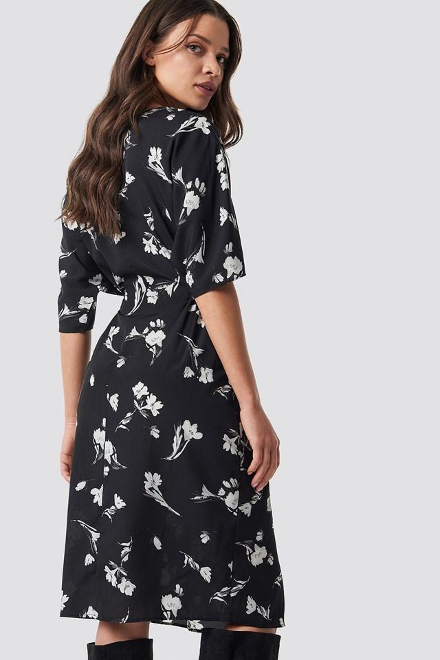 Flower Print Midi Dress NA-KD.COM