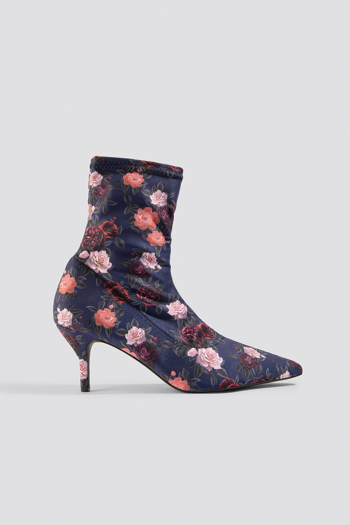 Flower Printed Sock Boots NA-KD.COM