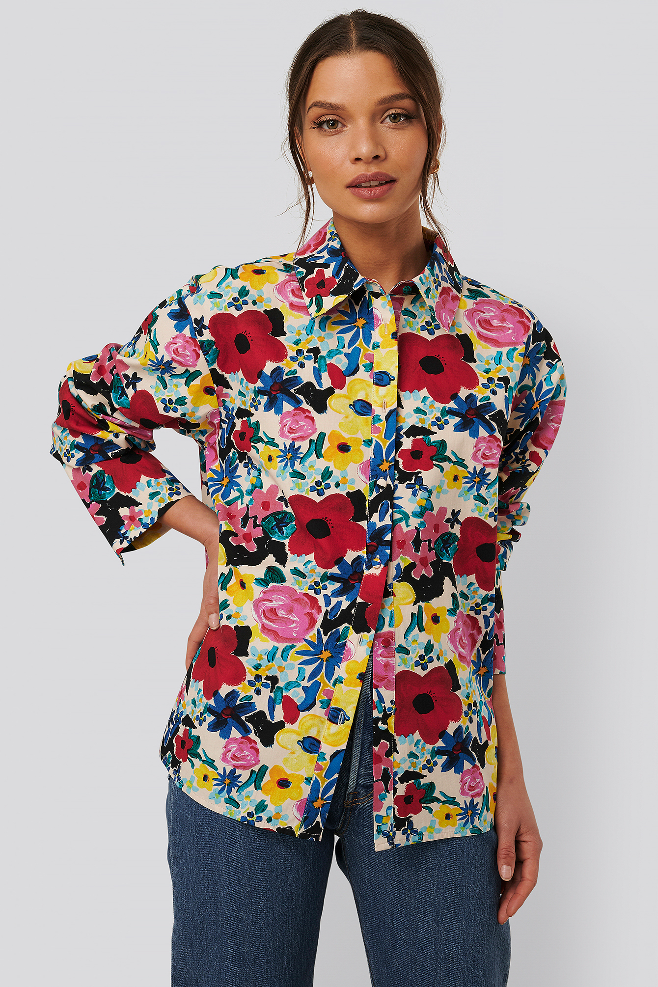 na-kd trend -  Baumwollhemd - Multicolor