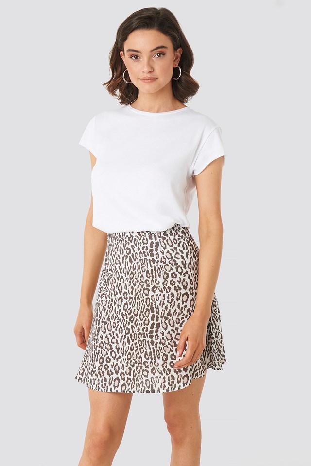 Flowing Skirt Leopard