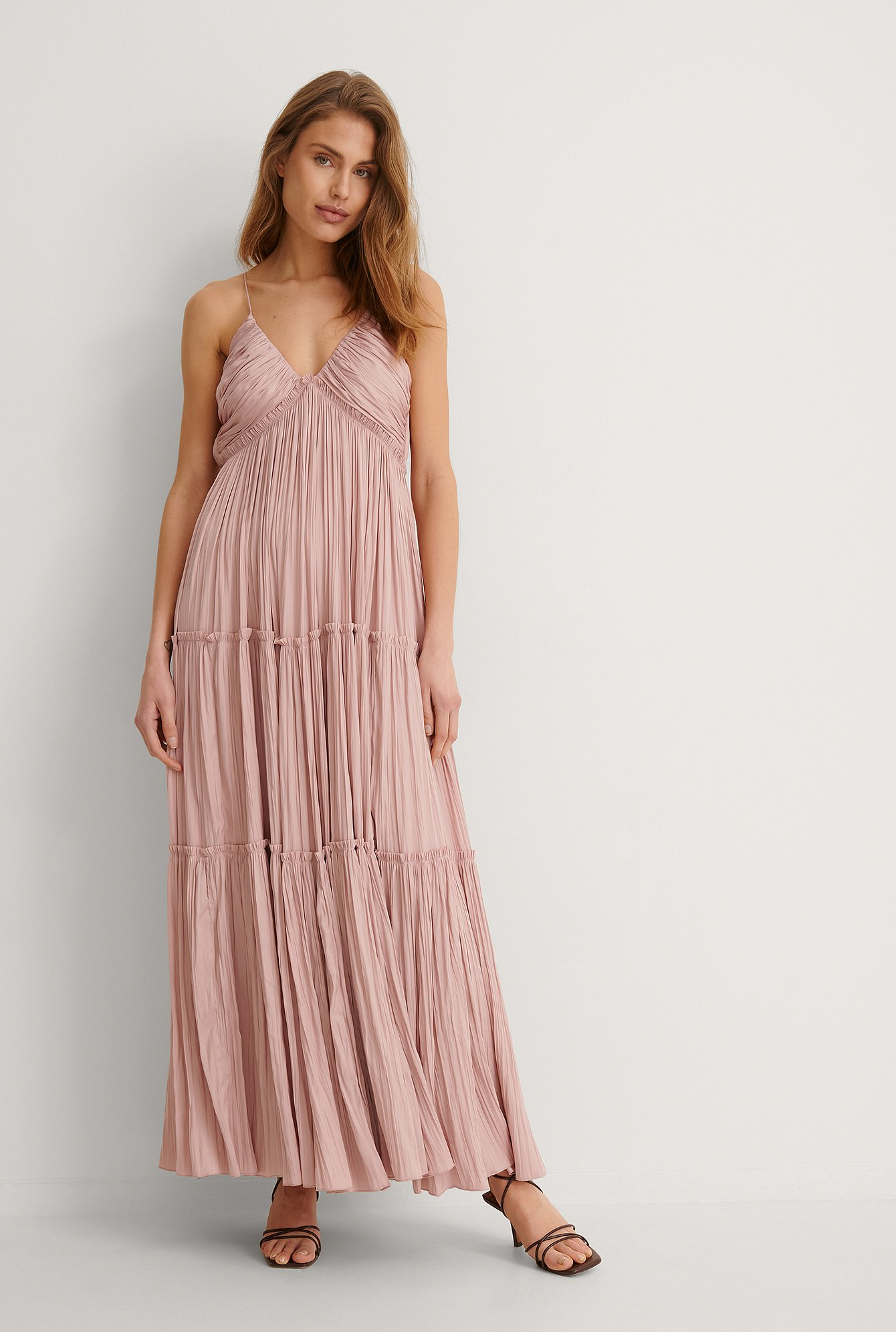 Dusty Pink Flowy Maxi Dress