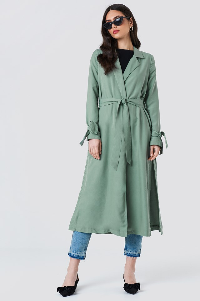 Fluid Trenchcoat Dusty Green