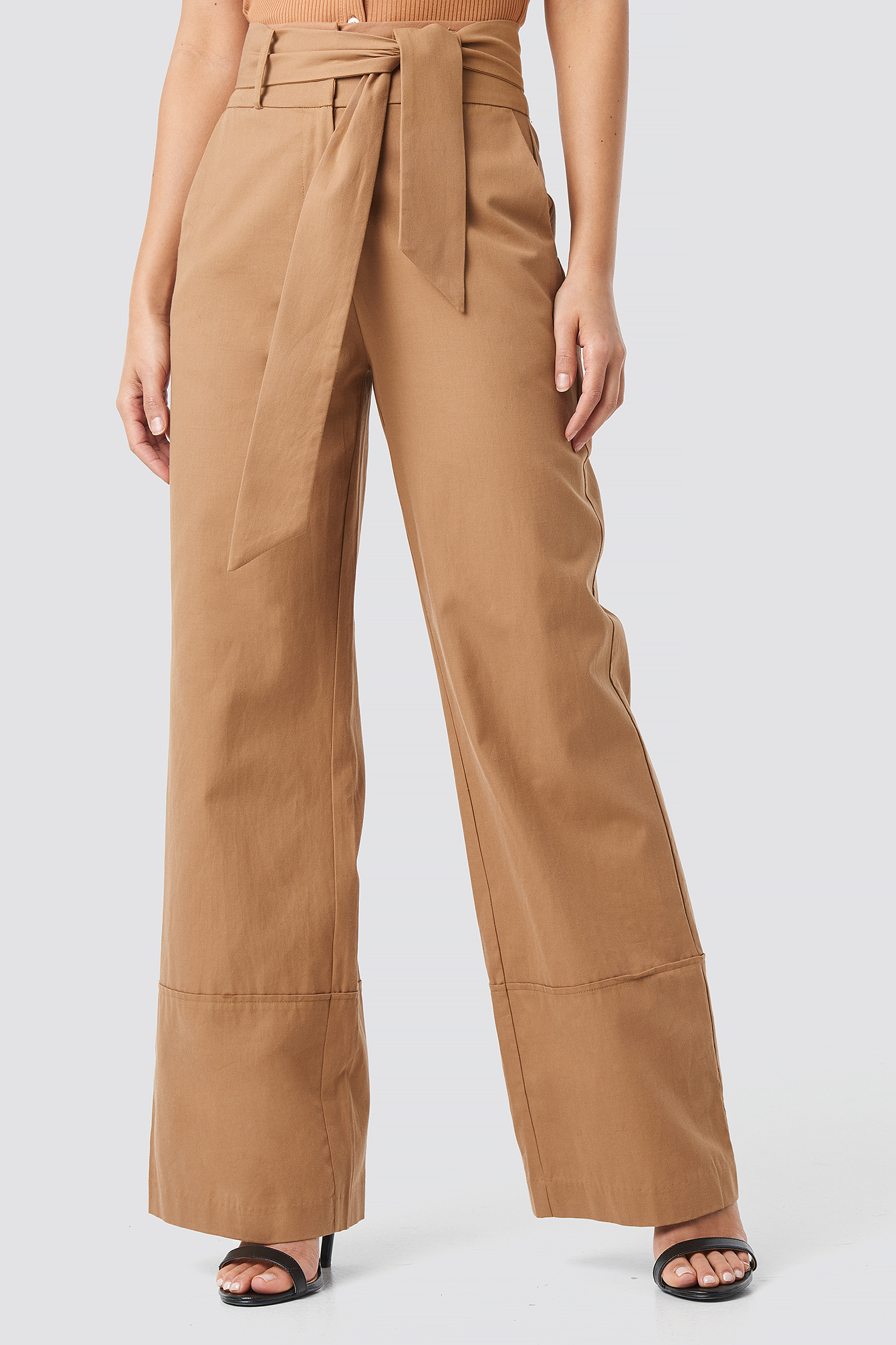 Fold Up Wide Leg Pants NA-KD.COM
