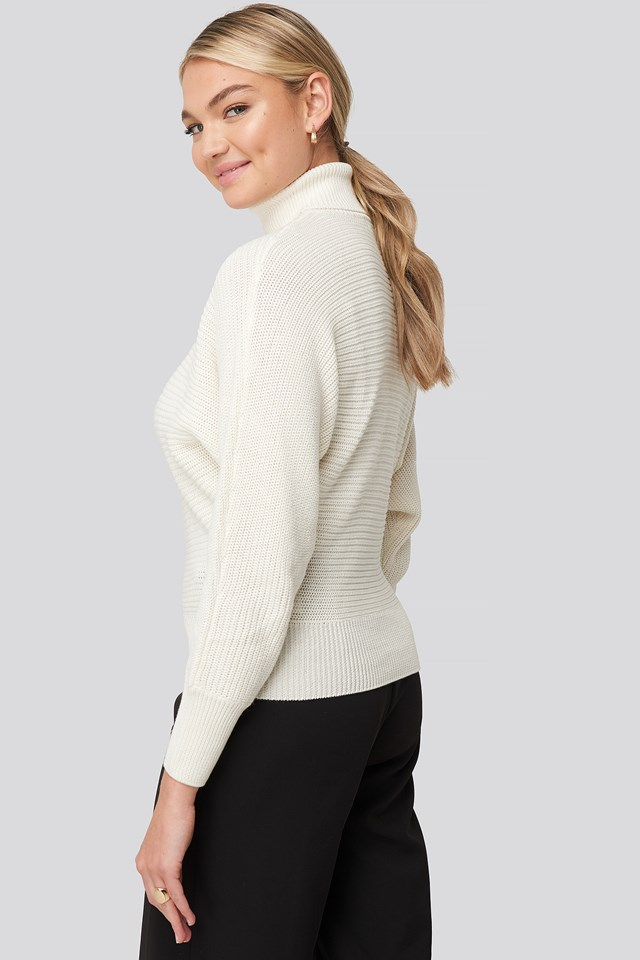 Folded Knitted Sweater Offwhite