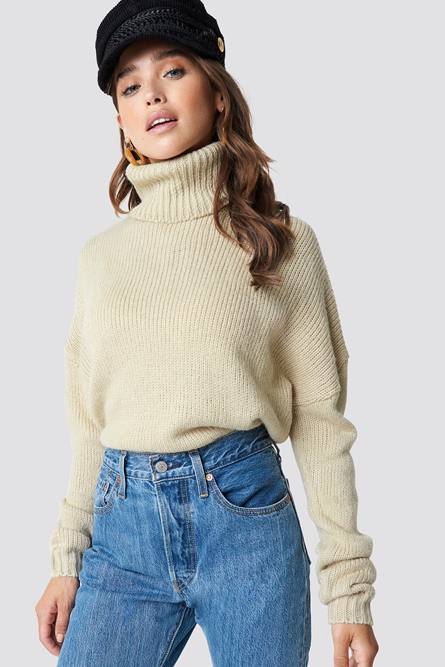 Folded Oversize Short Knitted Sweater NA-KD