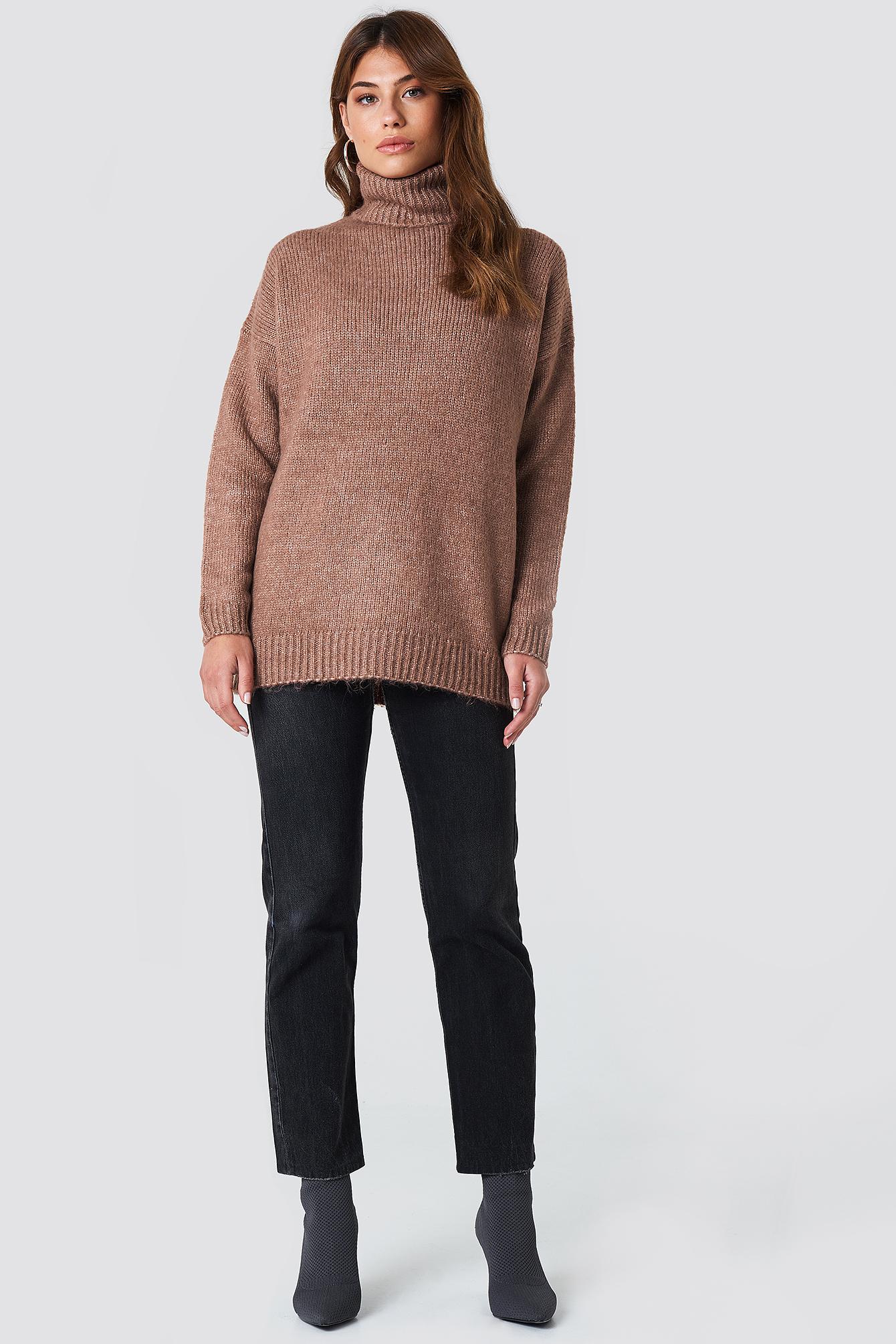 Sweter oversize z golfem NA-KD.COM