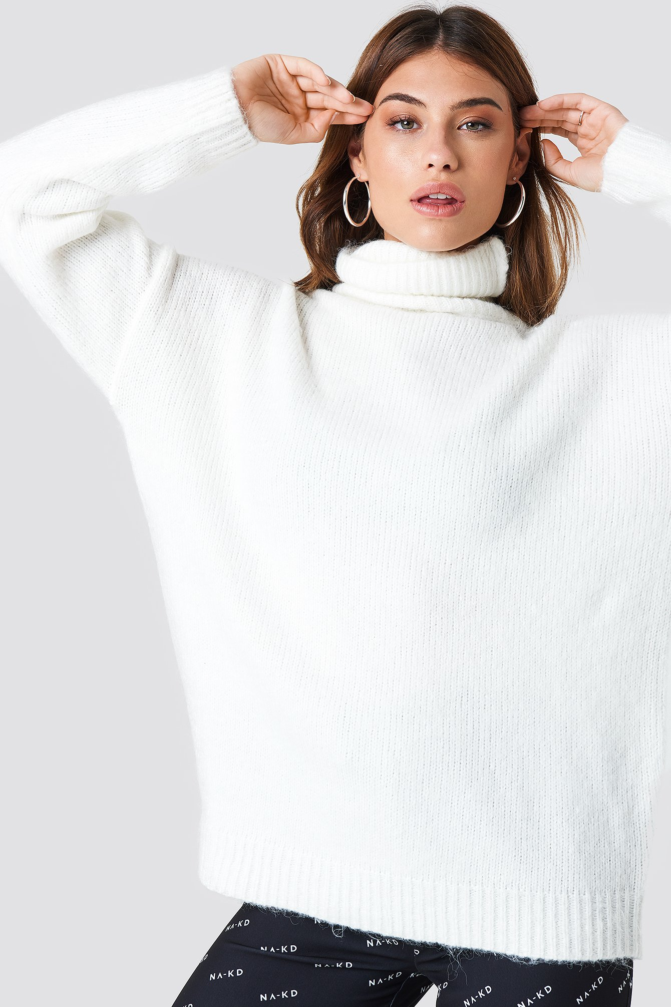 Folded Oversized Knitted Sweater NA-KD.COM