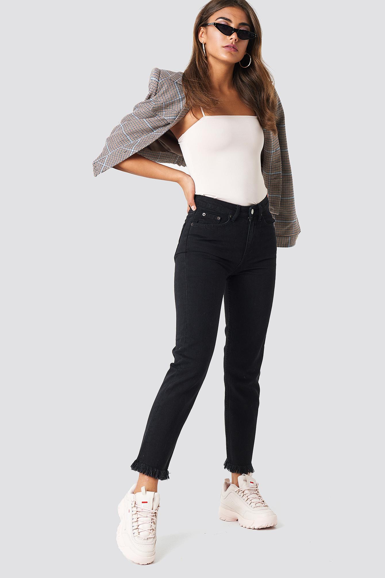 Fray hem Jeans NA-KD.COM