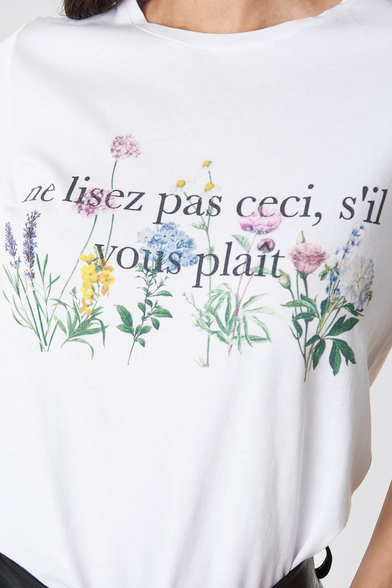 French Flower Printed Tee NA-KD.COM