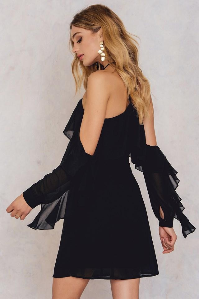 Frill A-Neck Mini Dress NA-KD.COM