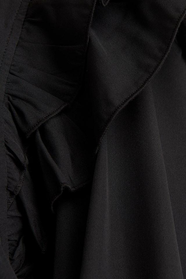 Frill Blouse Black