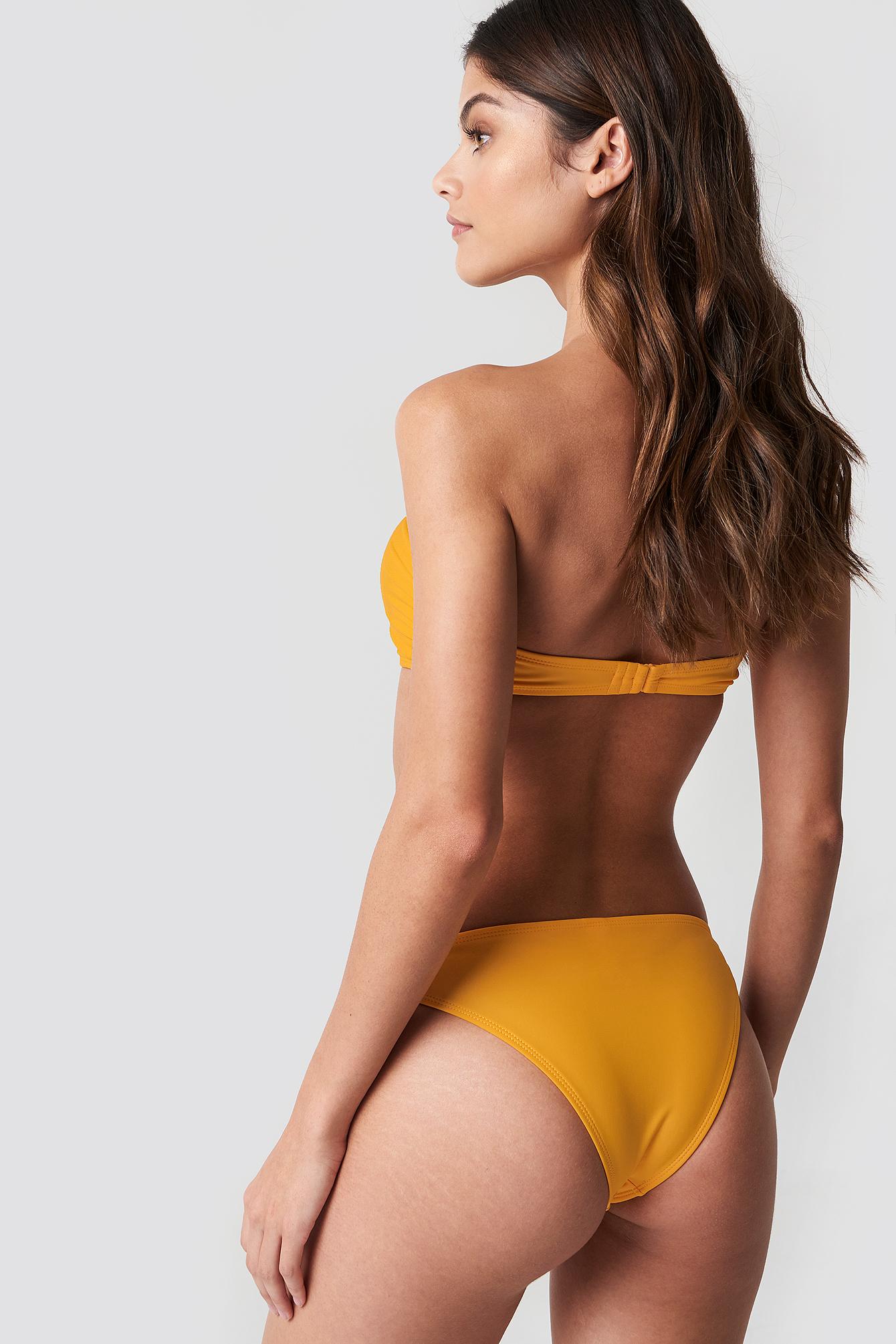 Frill Deep V Bandeau Bikini NA-KD.COM