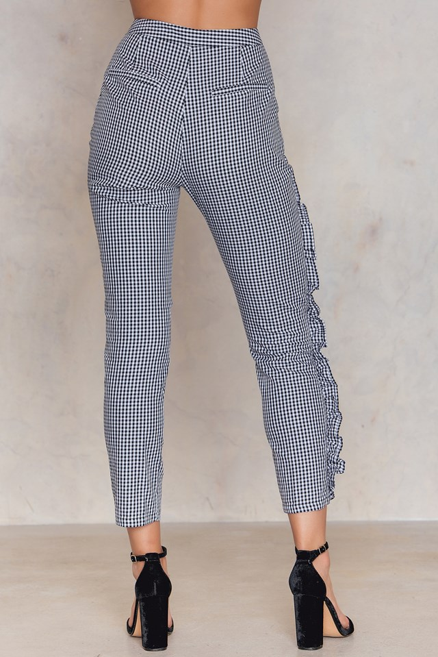 Frill Detail Pants Gingham