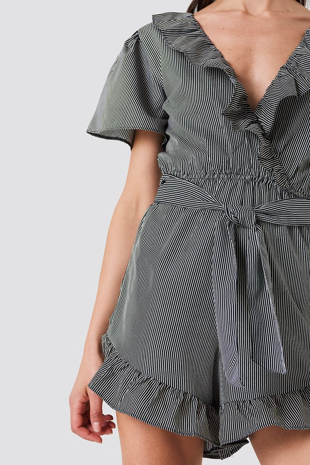 Frill Detail Playsuit NA-KD.COM