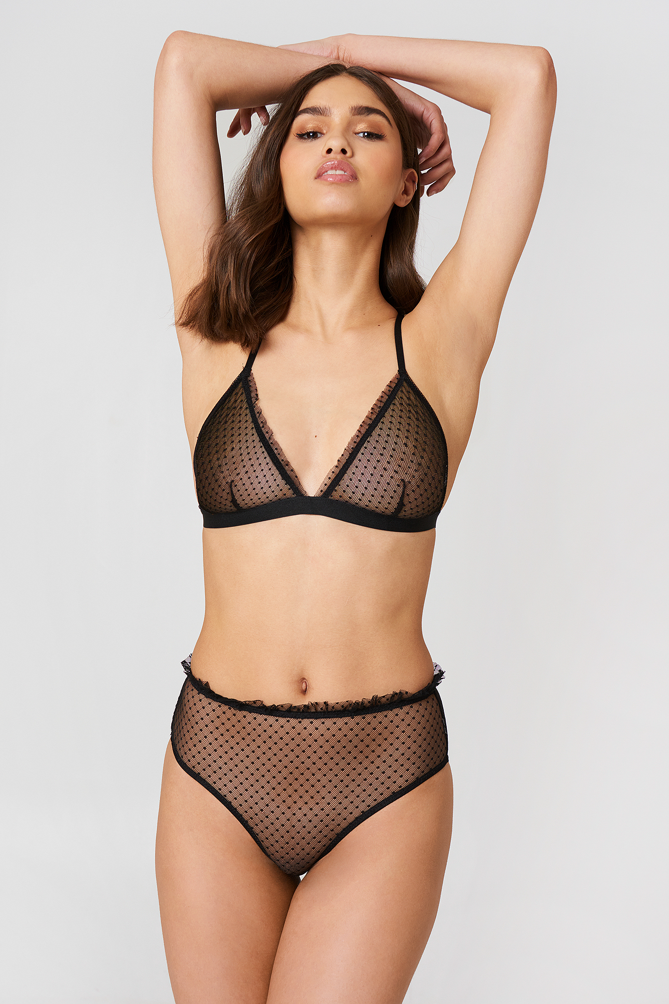 Frill Edge Dotted Mesh Panty NA-KD.COM
