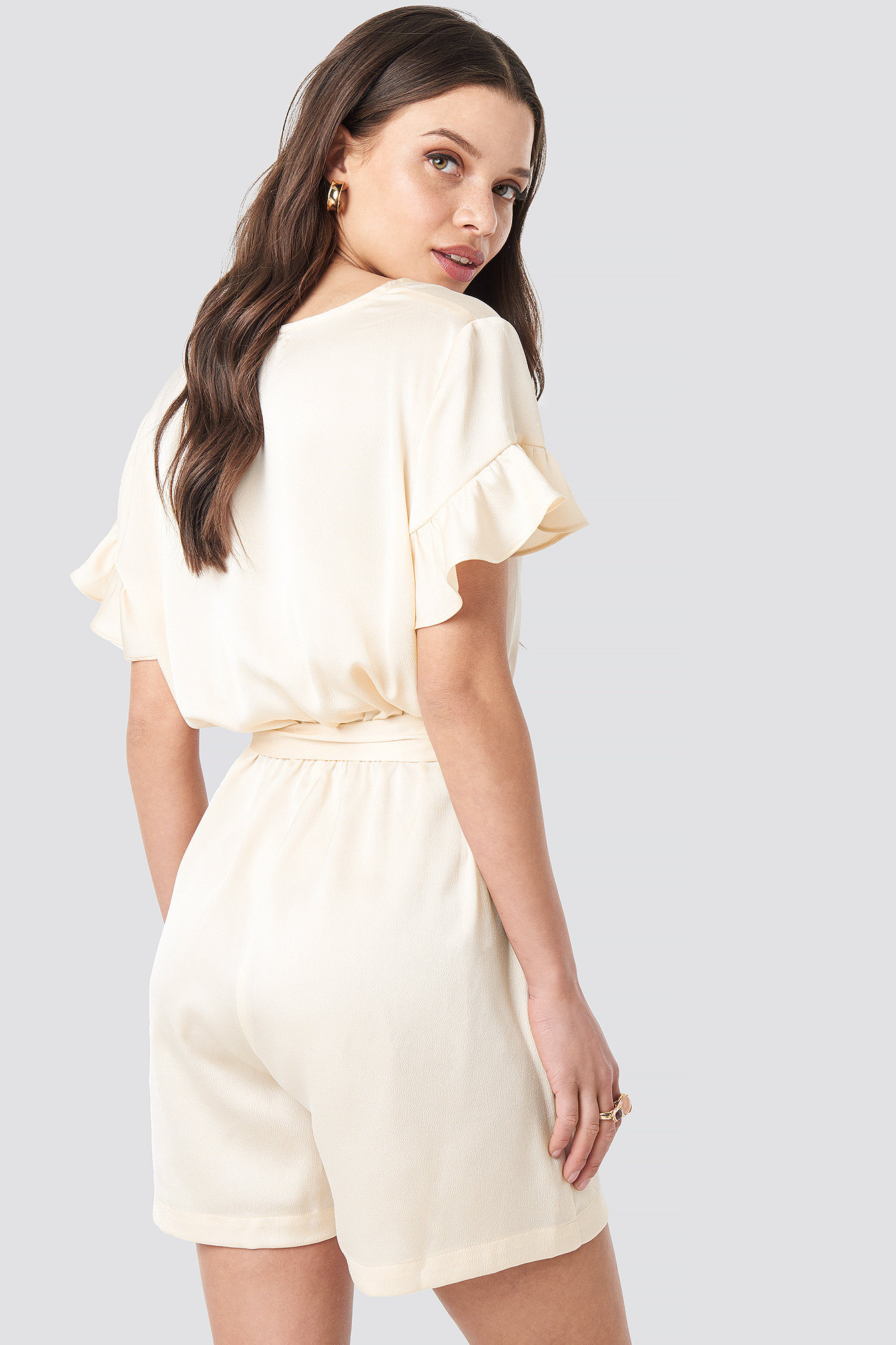 Frill Sleeve Playsuit NA-KD.COM