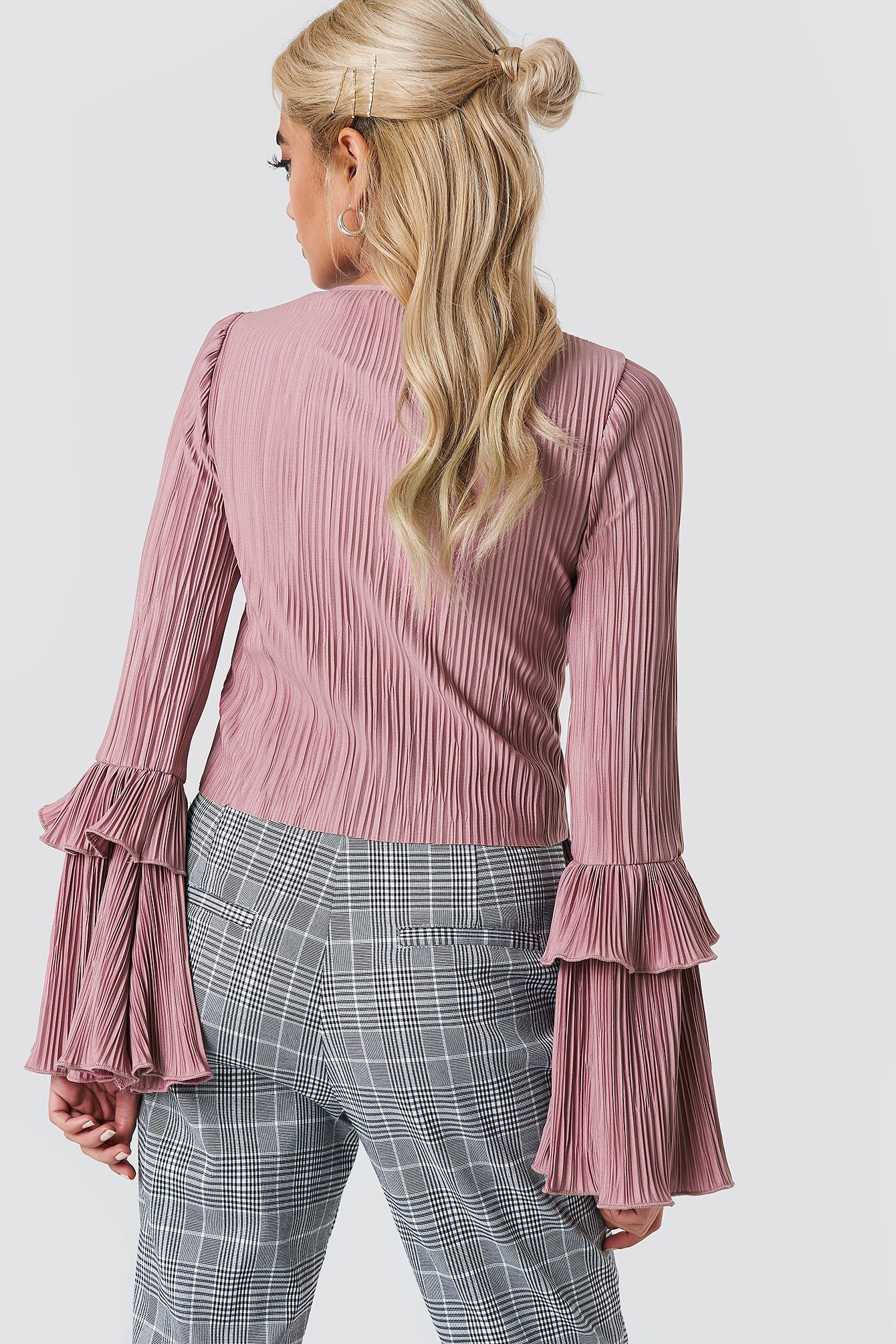 Frill Sleeve Pleated Top NA-KD.COM