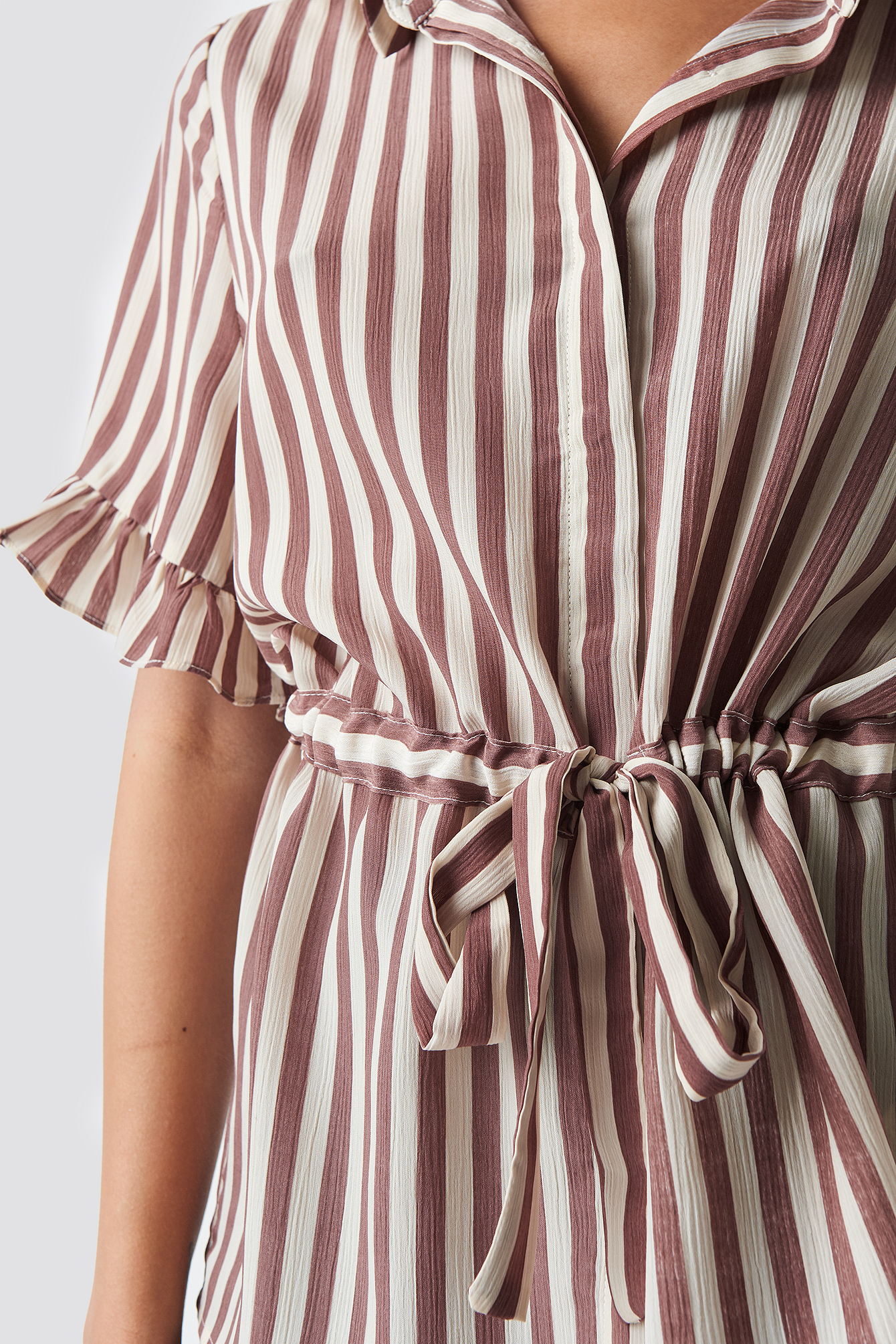 Frill Sleeve Tie Waist Top NA-KD.COM