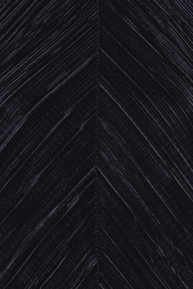 Front Cut Pleated Dress Black