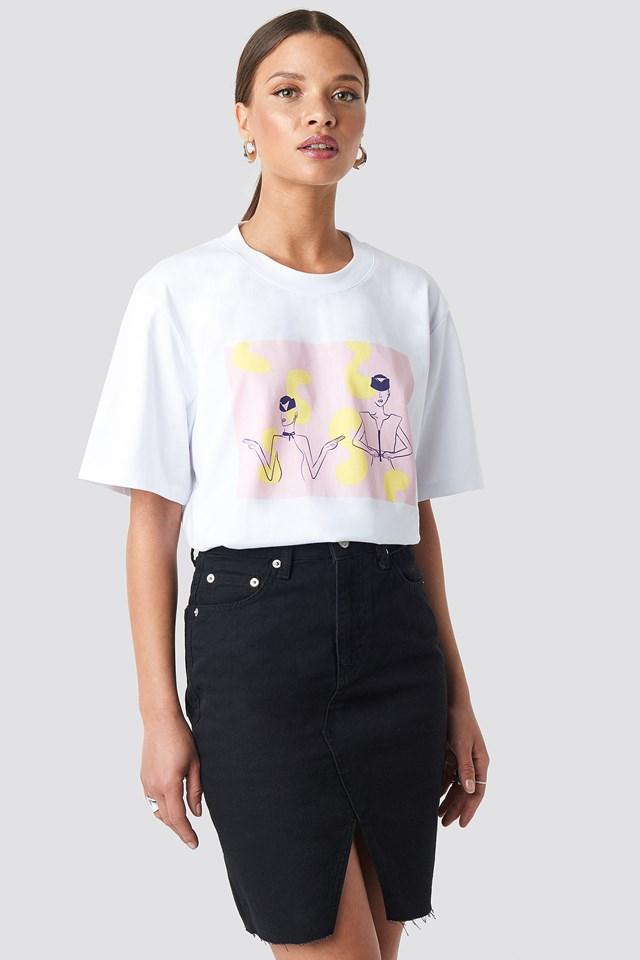 Front Slit Denim Skirt NA-KD.COM