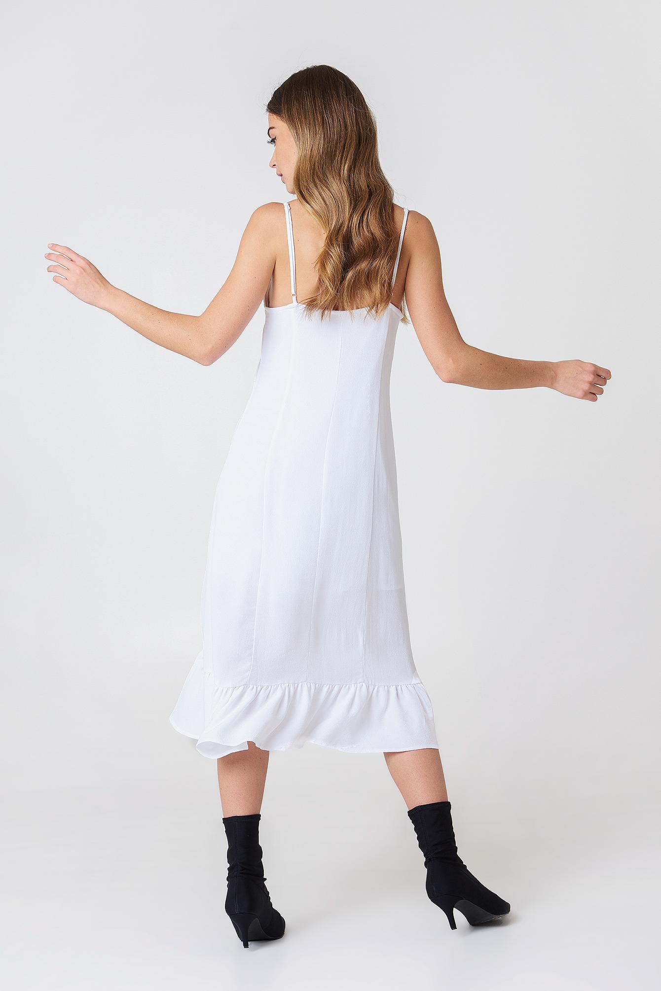 Sukienka midi z marszczeniem z przodu NA-KD.COM